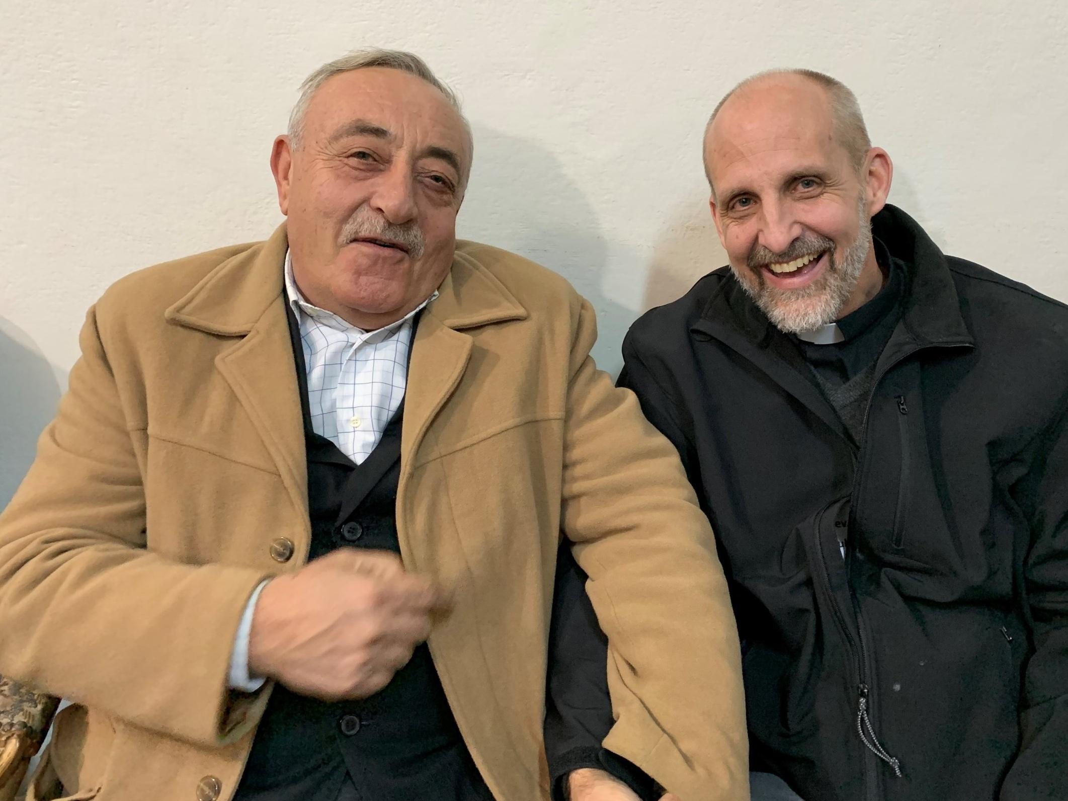 Mike with Elder Haitham at Qamishli Church