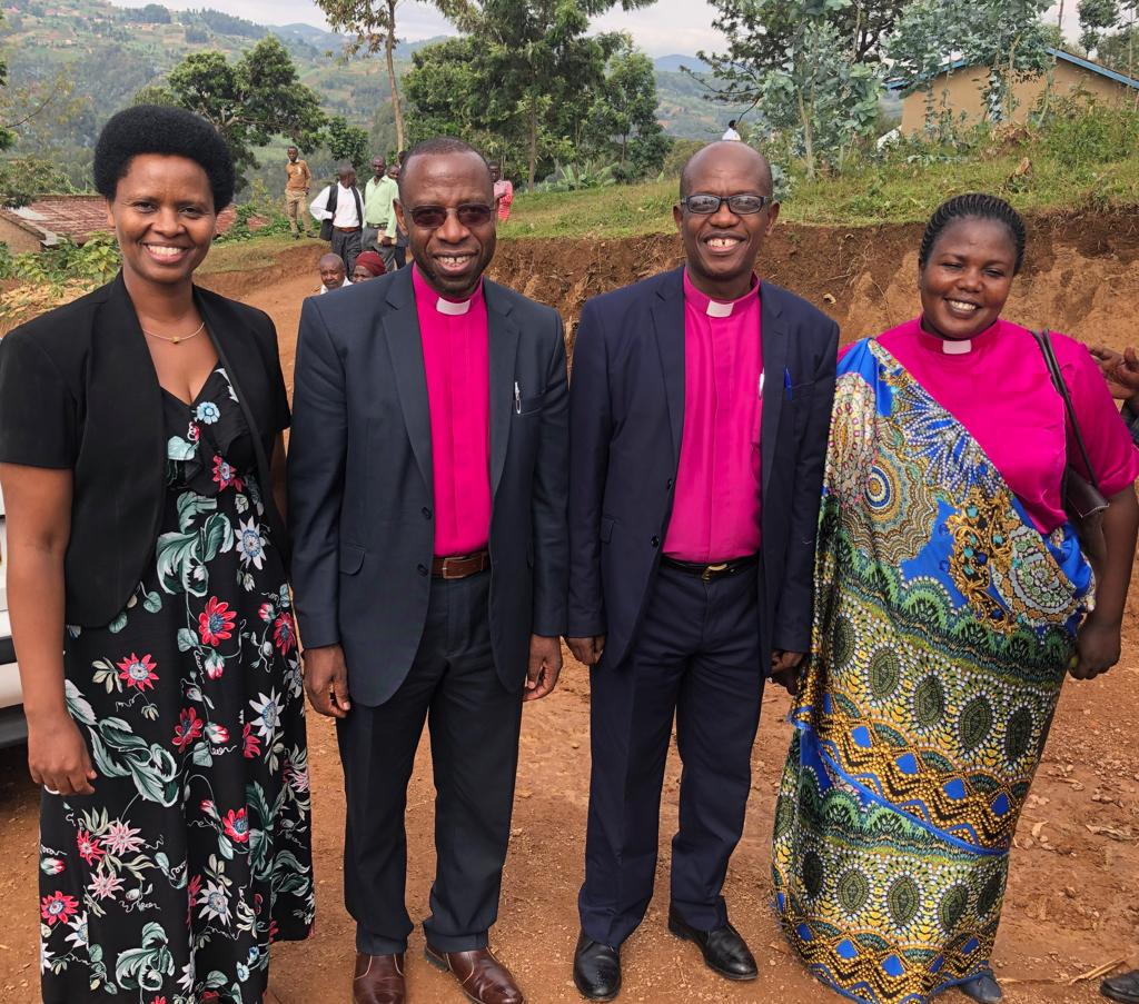 Present for our Sunday worship were (L to R)  Rev. Dr. and Mrs. Pascal Bataringaya,  Rev. Joseph Ndagiro (Gisenyi Presbytery Moderator) and Rev. Julie Kandema (EPR Vice-President)