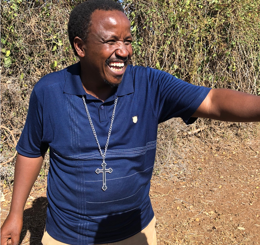 Girls' Education and Rescue Centers May 2019 Rev. Charles Maina at Mother Esther school and rescue center.png