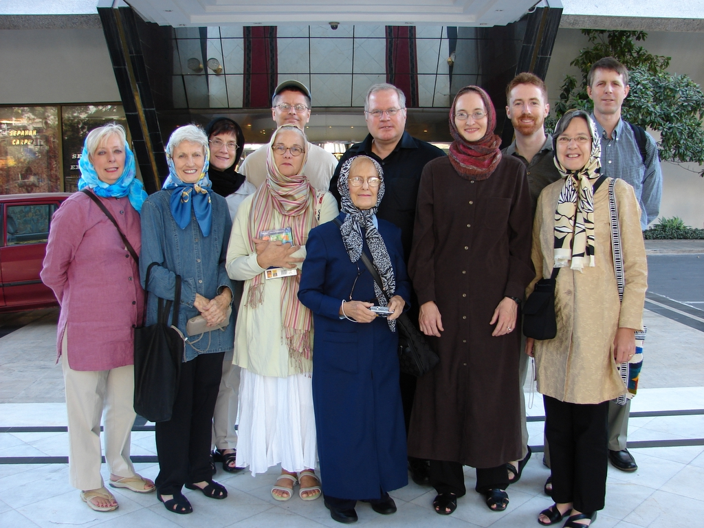 Penny Parker with Outreach group in Iran
