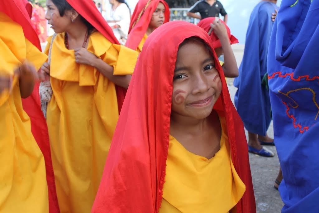 A Wuayúu child  Una niña wuayúu.