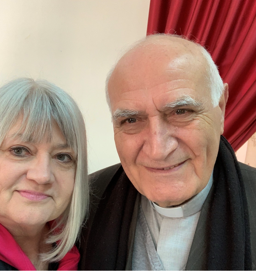Marilyn Borst with Rev. Yousef Jabbour
