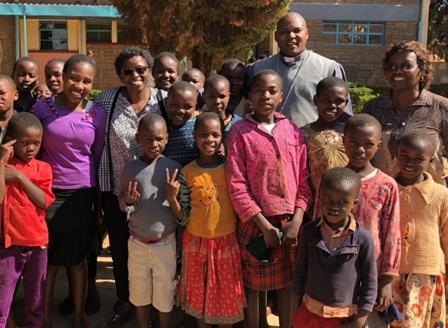 Tumaini children and friends