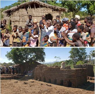 Liziye straw church and bricks for new building