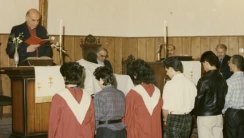 At St. John's Presbyterian Church where he served as pastor