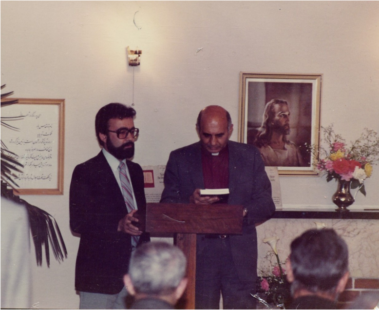Rev. Michaelian and Rev. Saro Khachikian at the Bible Society in Tehran