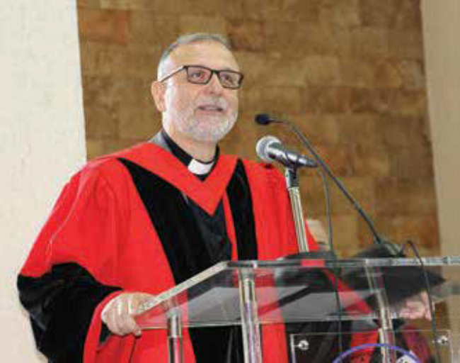 The commencement keynote speaker was the Rev. Dr. Nadim Nassar (B.Th. '88), Director of the Awareness Foundation in the United Kingdom.