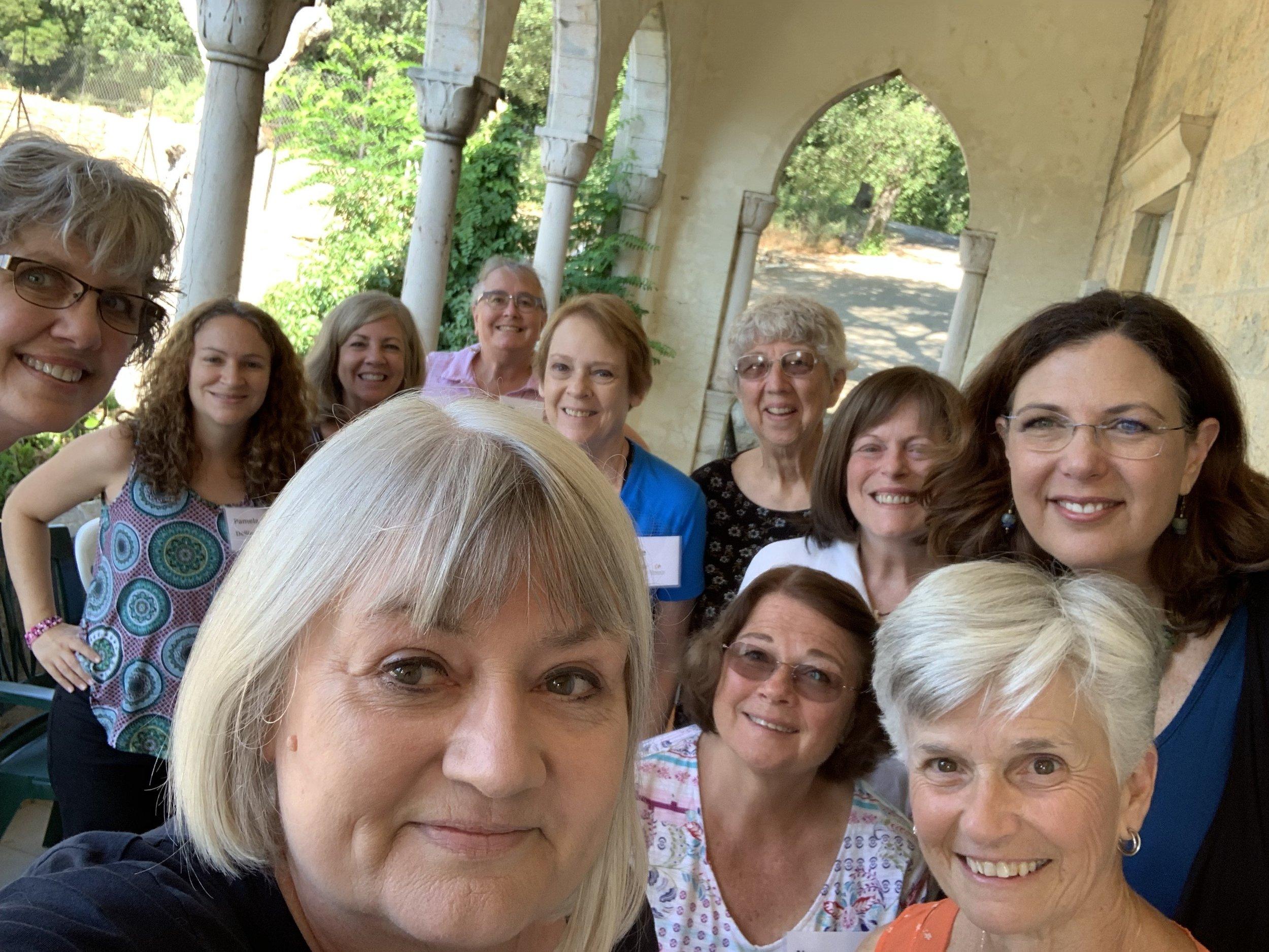 Faithful women gathered for choir practice
