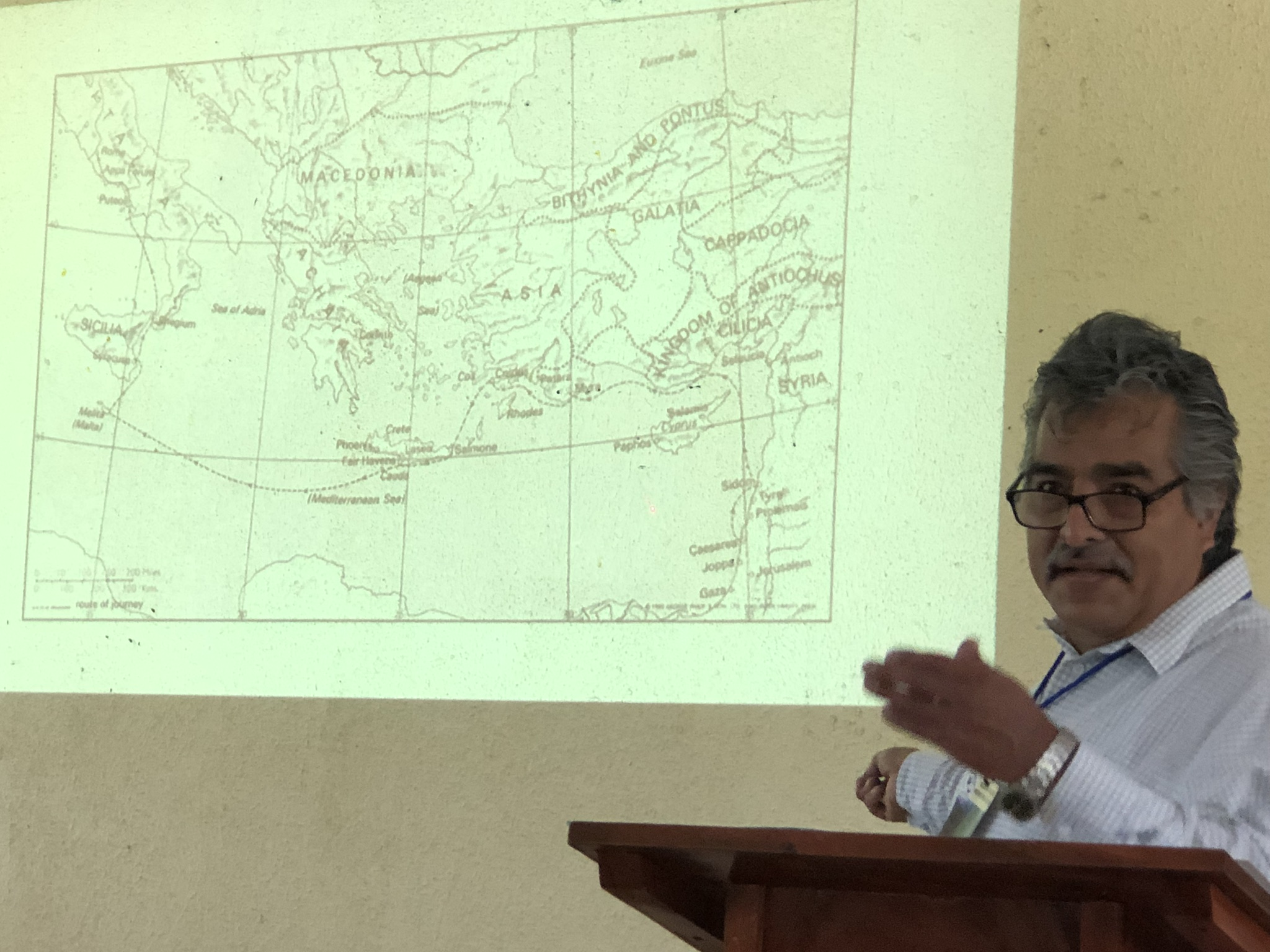 Missiologist Pedro Robledo during the 1st Conference of the Mission Society