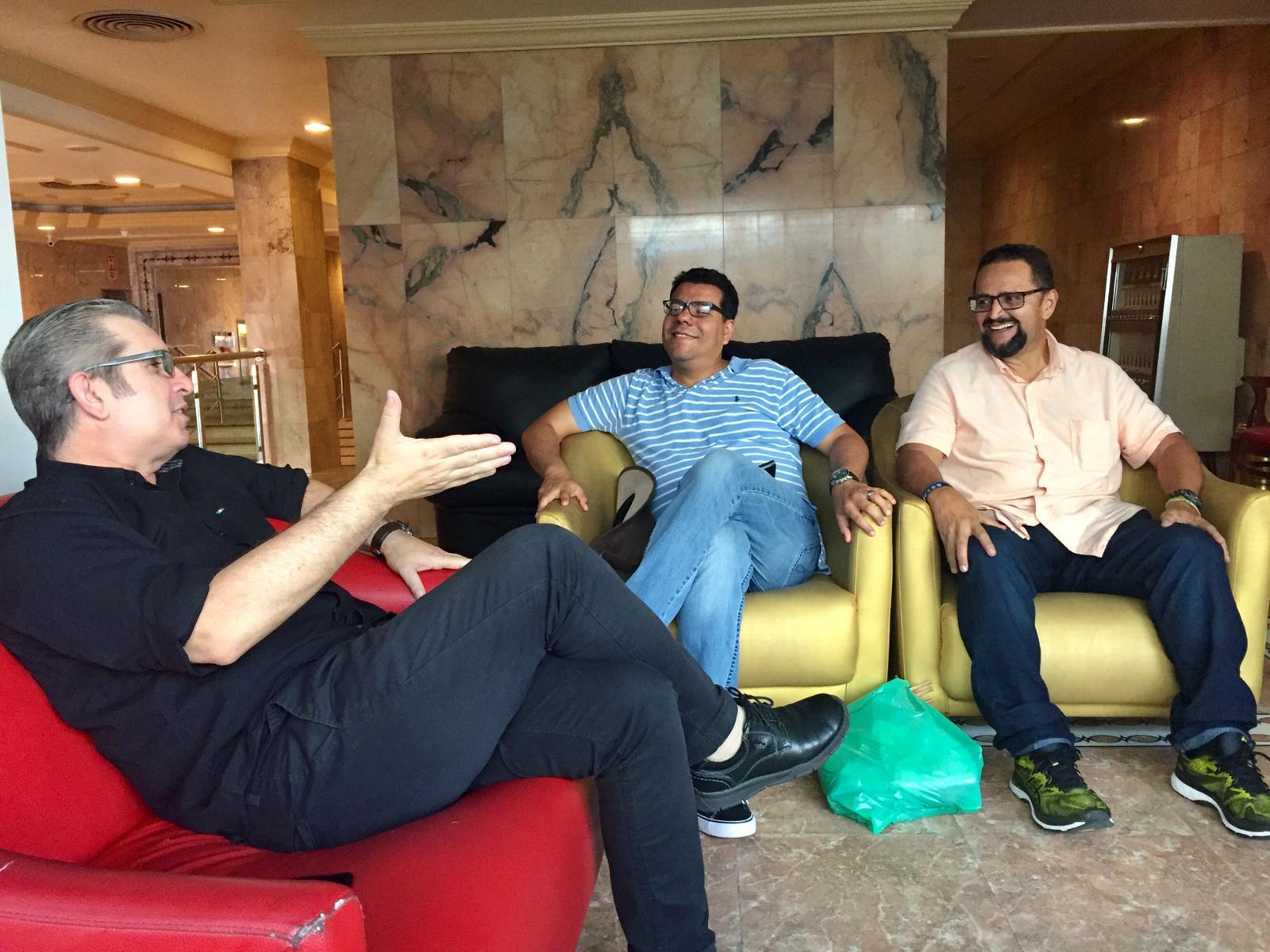 Juan meeting with pastor Francisco and D'Jard