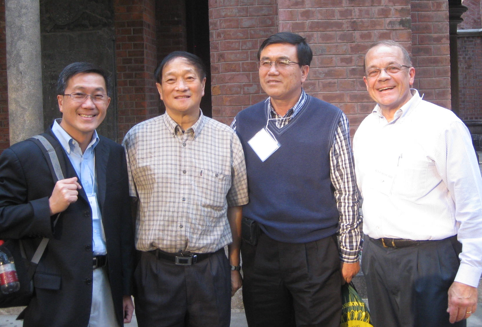 Peter Lim, Rev. Bao, Choon Lim, and Jeff Ritchie