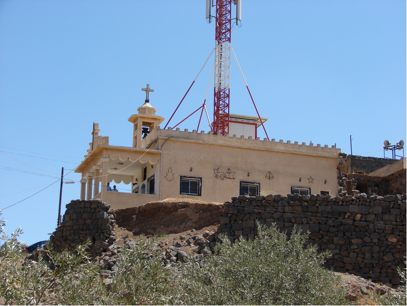The Presbyterian Church in Kharaba - for now, inaccessible.