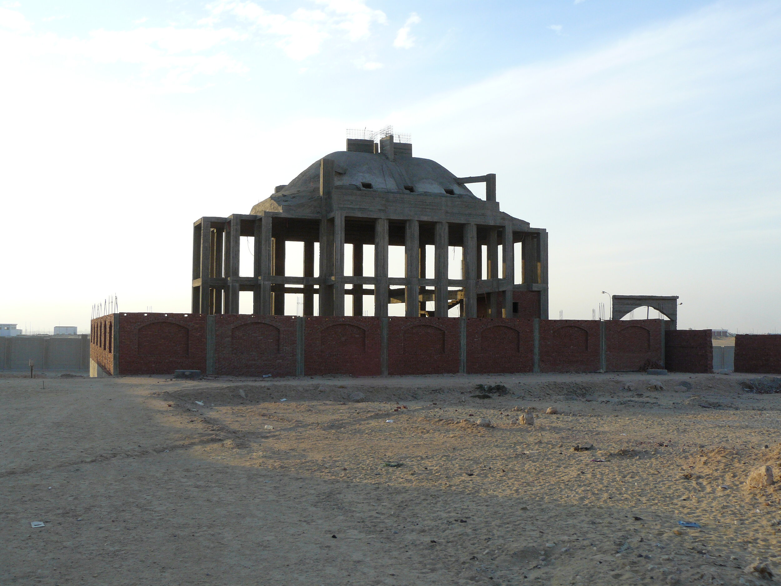 Church construction in Obour City on land granted by the government