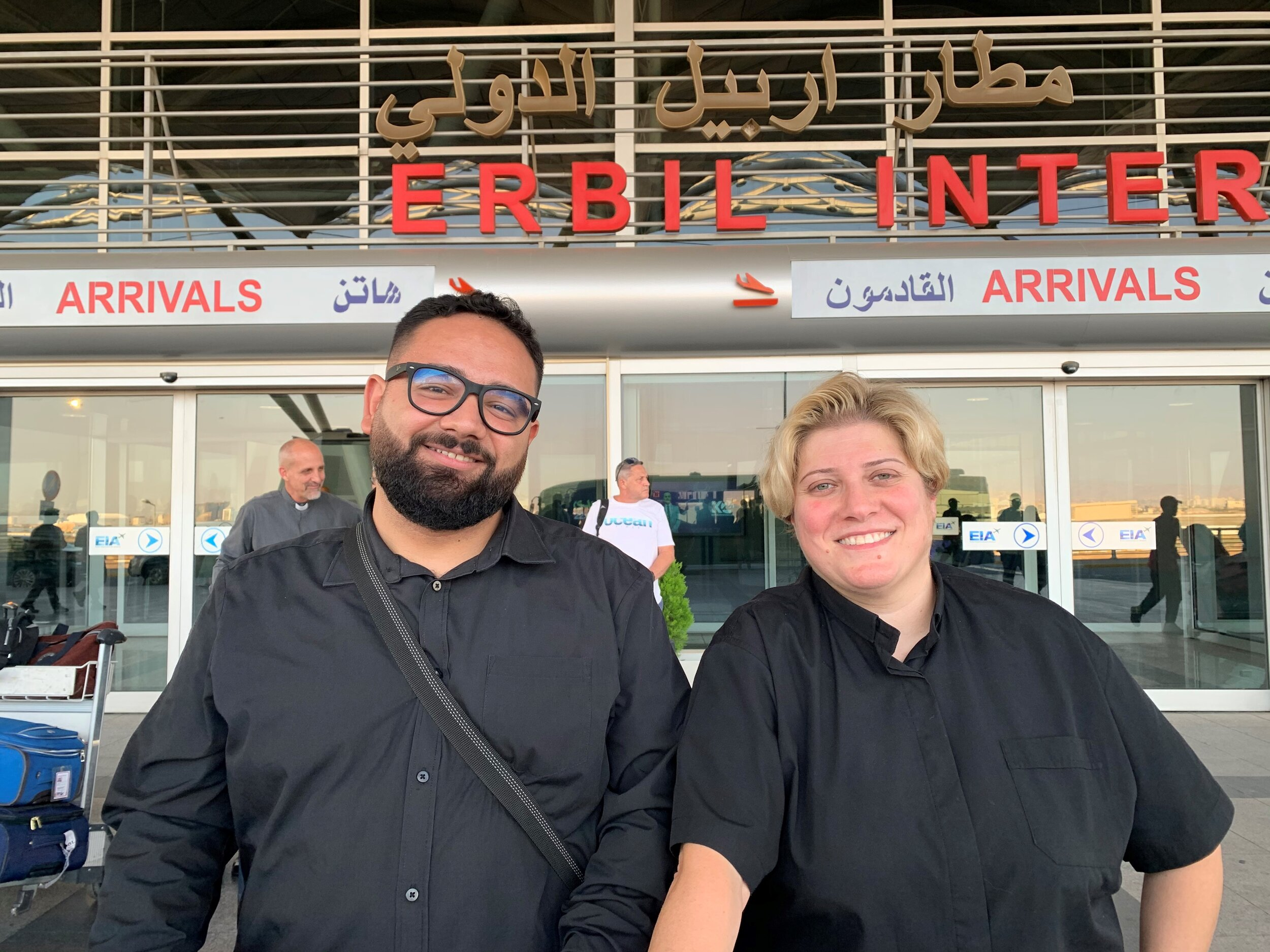 Arriving in Erbil with Adon Nouman and Rev Rola Sleiman, our partners from the National Evangelical Synod of Syria and Lebanon