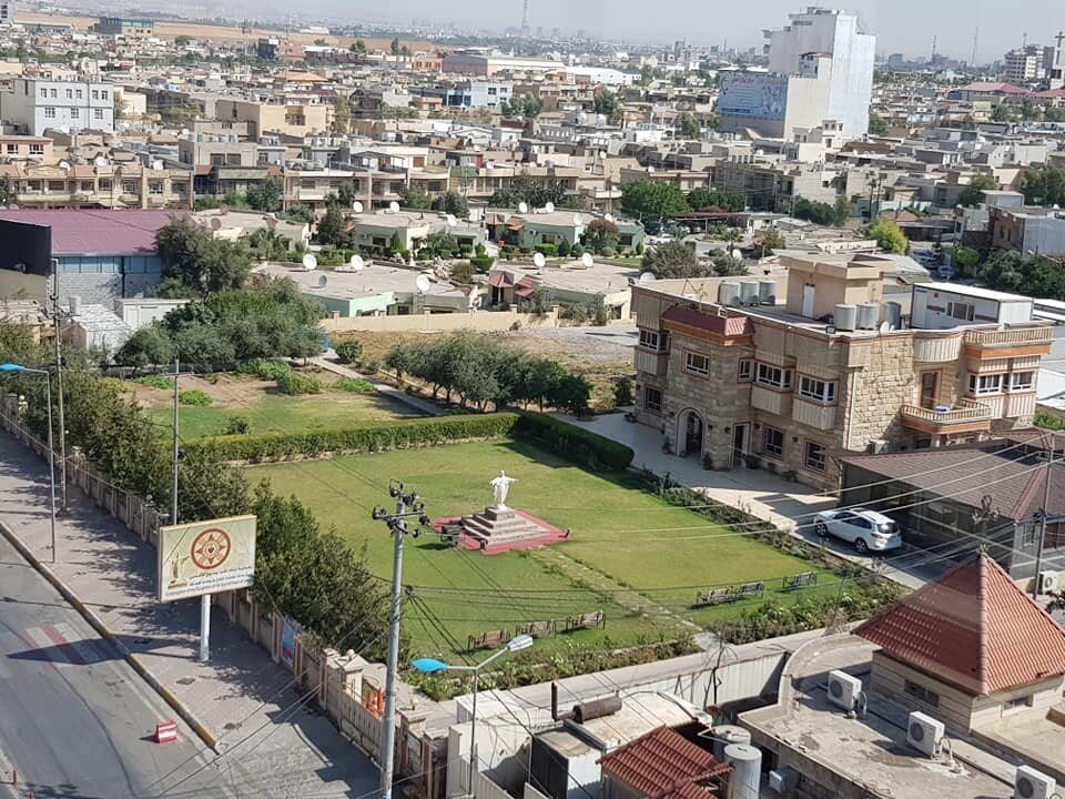 Erbil as seen from our hotel (across the street is a shrine honoring Elijah). When ISIS drove Christians from Mosul and the villages which surround it, many of them put up tents here on these grounds