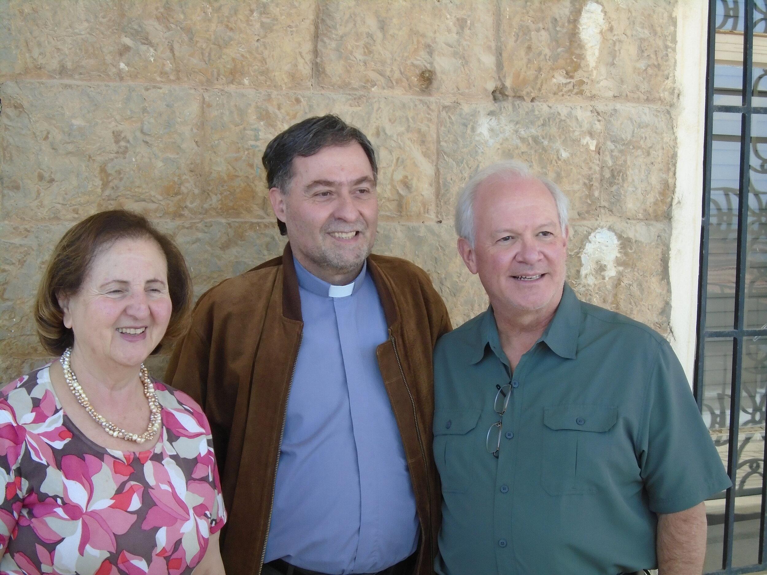 Mary Mikhael of NESSL, Assis Tony Aboud, Rev. Jack Baca