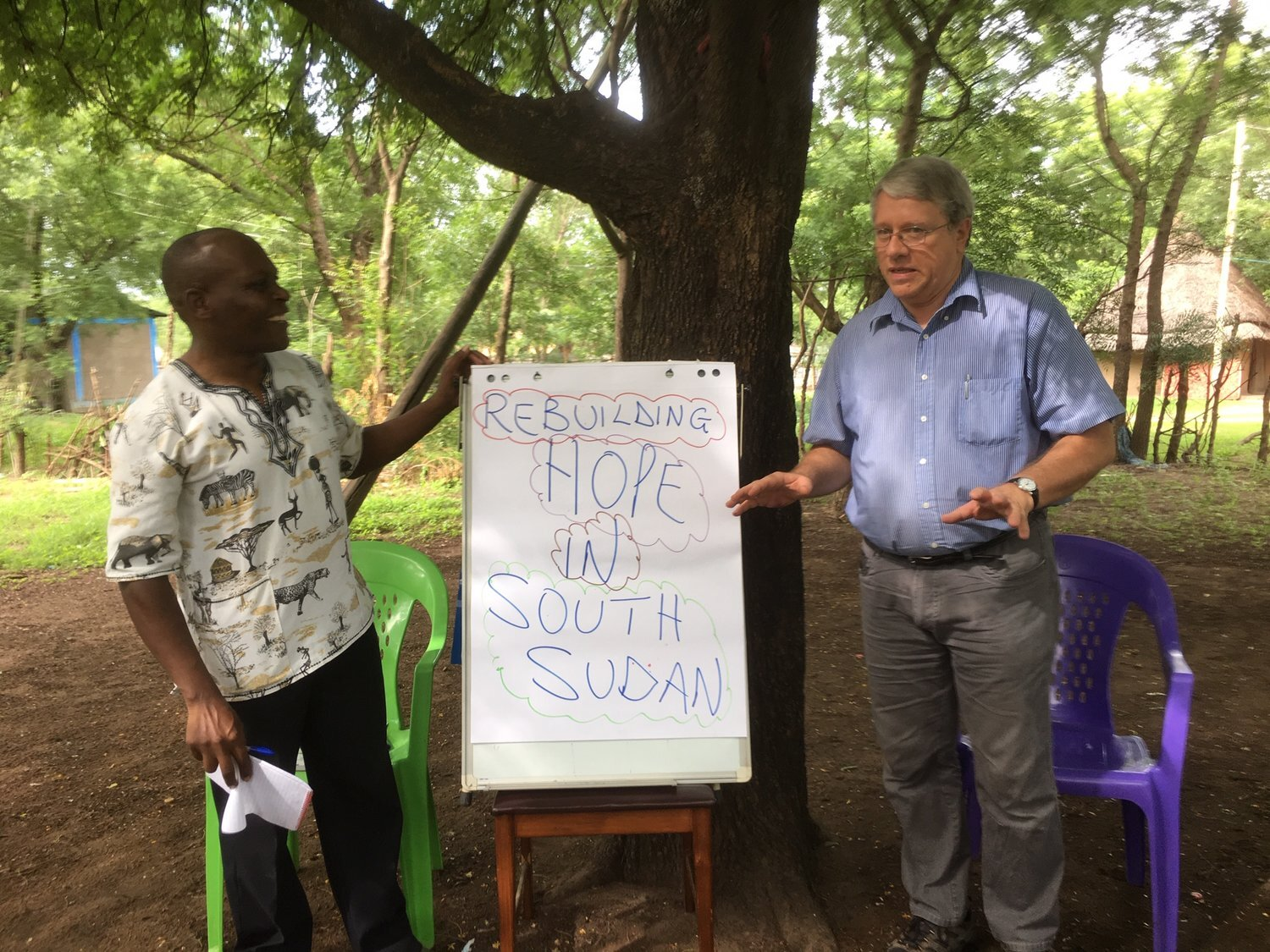 """Blog+1+Frank+and+Thaddeus+presenting+the+TOF+Program+to+help+""""Rebuild+Hope+in+South+Sudan"""".jpg"""