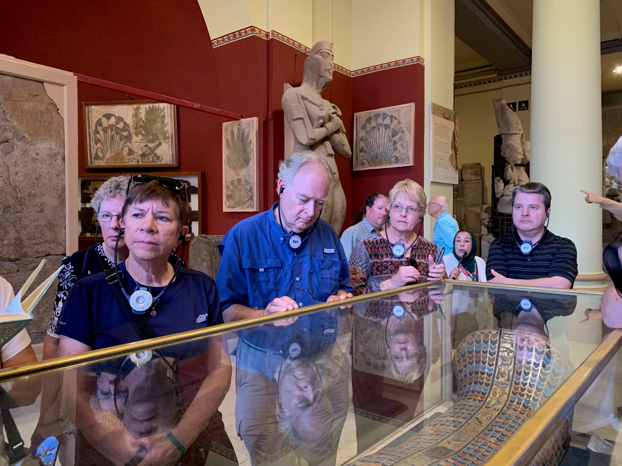 Deena (far left) and team absorbing a whole lot of history at the Cairo Museum