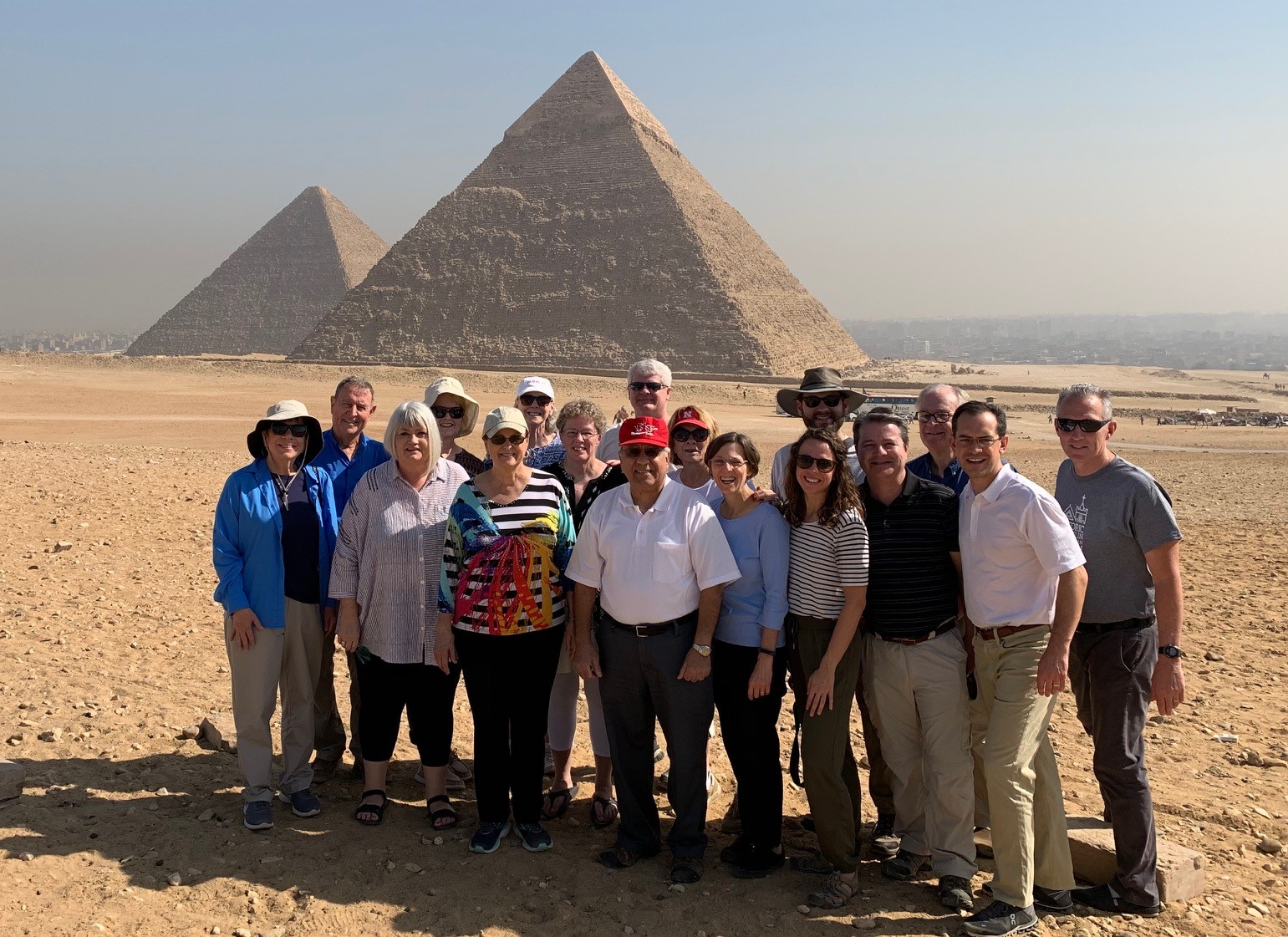 Our team at the Pyramids of Giza