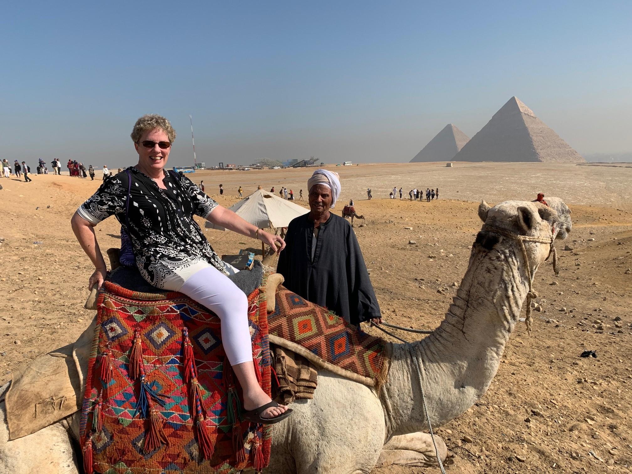 Peggy Shirley, ace camel jockey!