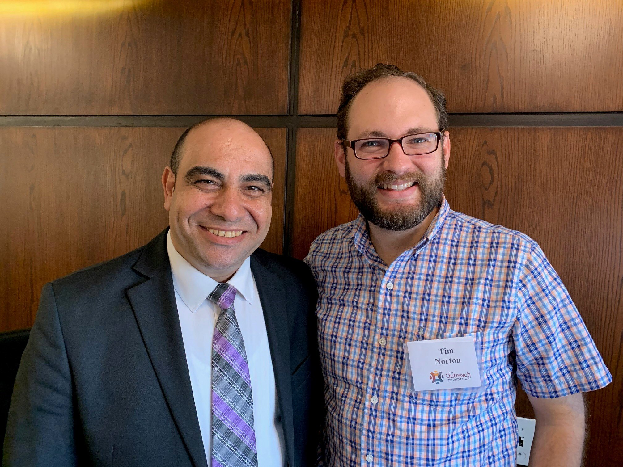 Rev. Nady Labib, Moderator of the Synod of the Nile, with Tim