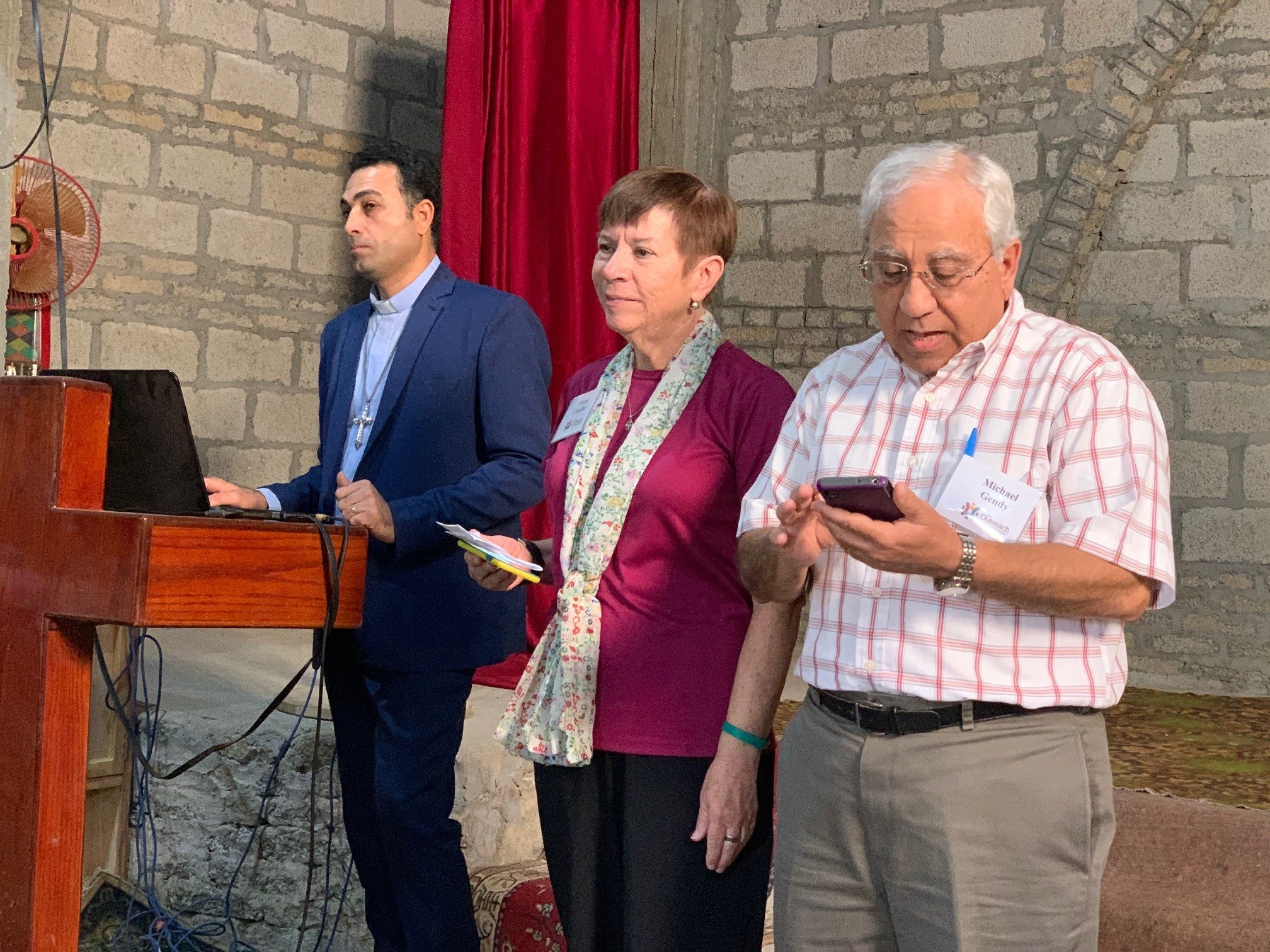 Deena Candler shared the Word with Michael Gendy (our Egyptian American teammate) translating