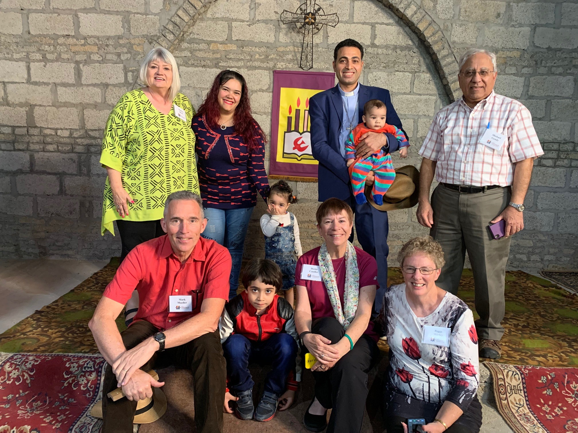 5 members of the Outreach Foundation team (Marilyn Borst, Michael Gendy, Mark Mueller, Deena Candler, Peggy Shirley) made the 90 minute drive, south of Luxor, to Adaima to see Rev Shenouda Girgis and his family (seen here)