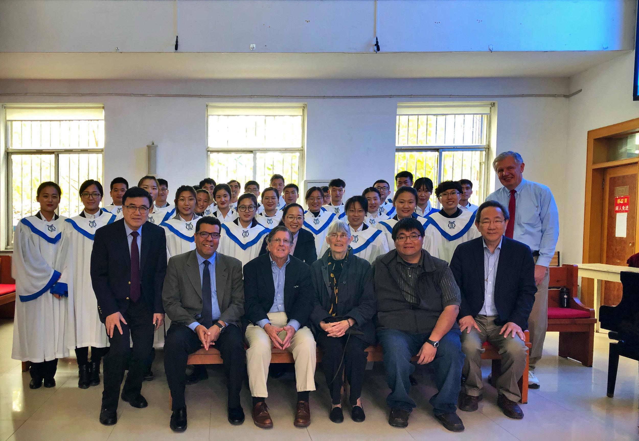 With the choir at Jinan International Church