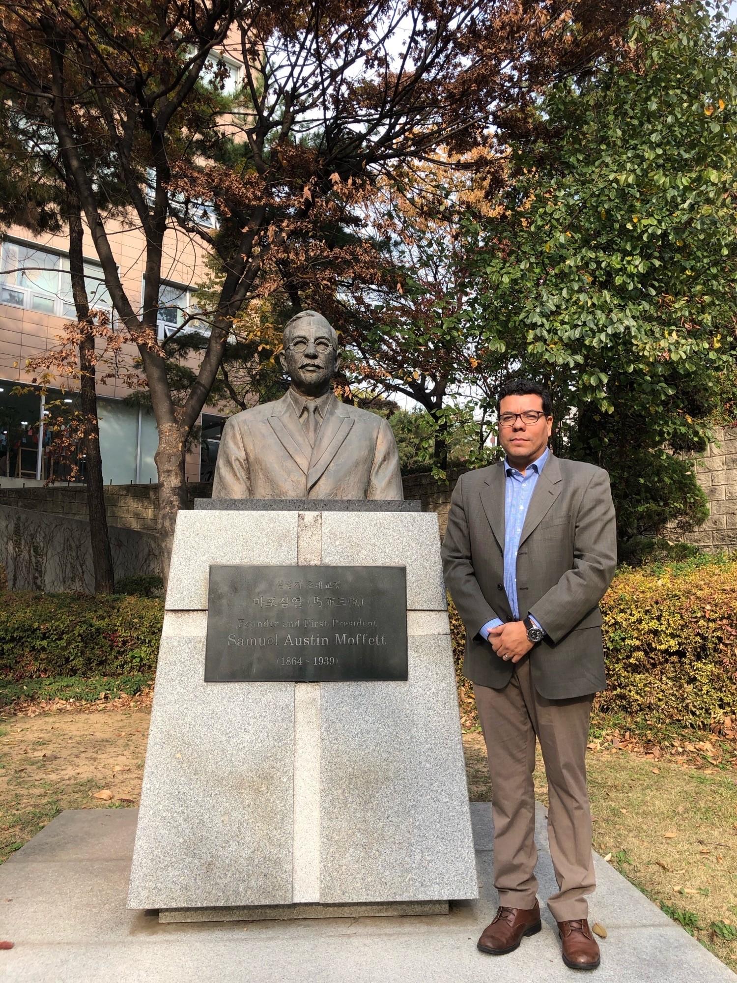 Grave of Samuel A. Moffett, celebrated Presbyterian Missionary to Korea