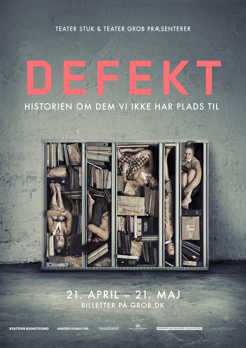 Plakat til Defekt. 2016