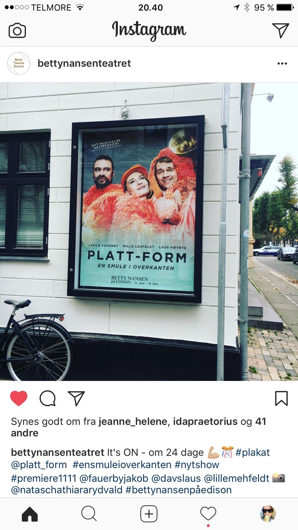 Montre plakat til Platt-Form