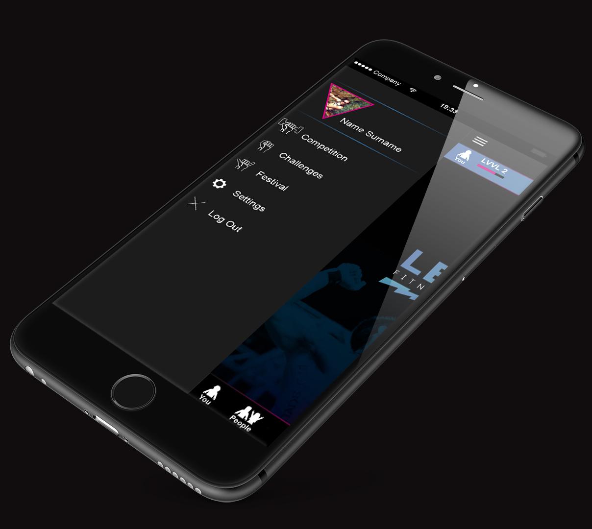 LEVVEL iPhone_app main manu.jpg