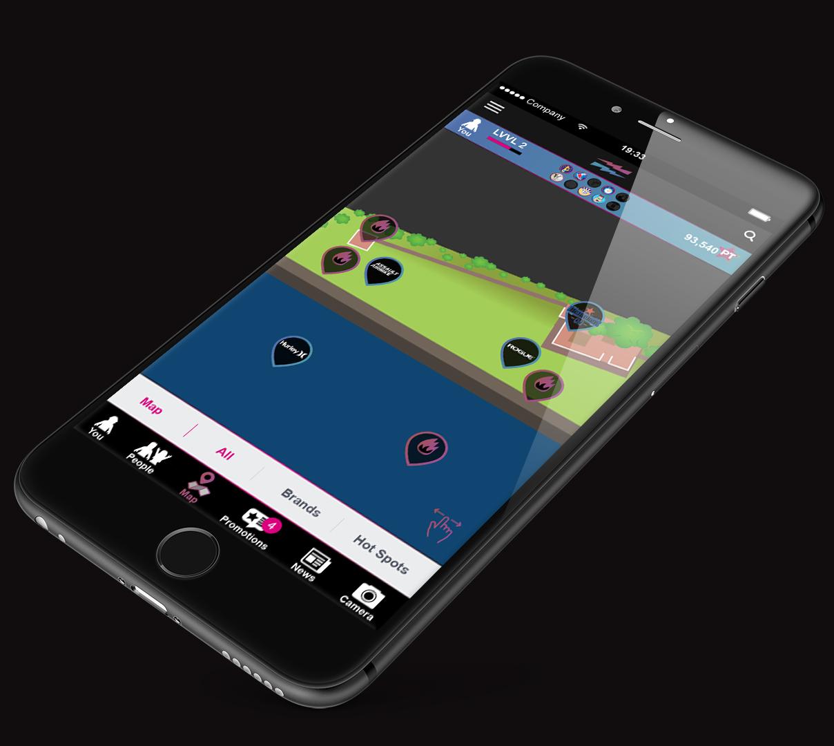 LEVVEL iPhone_Plus_app_map all swipe.jpg