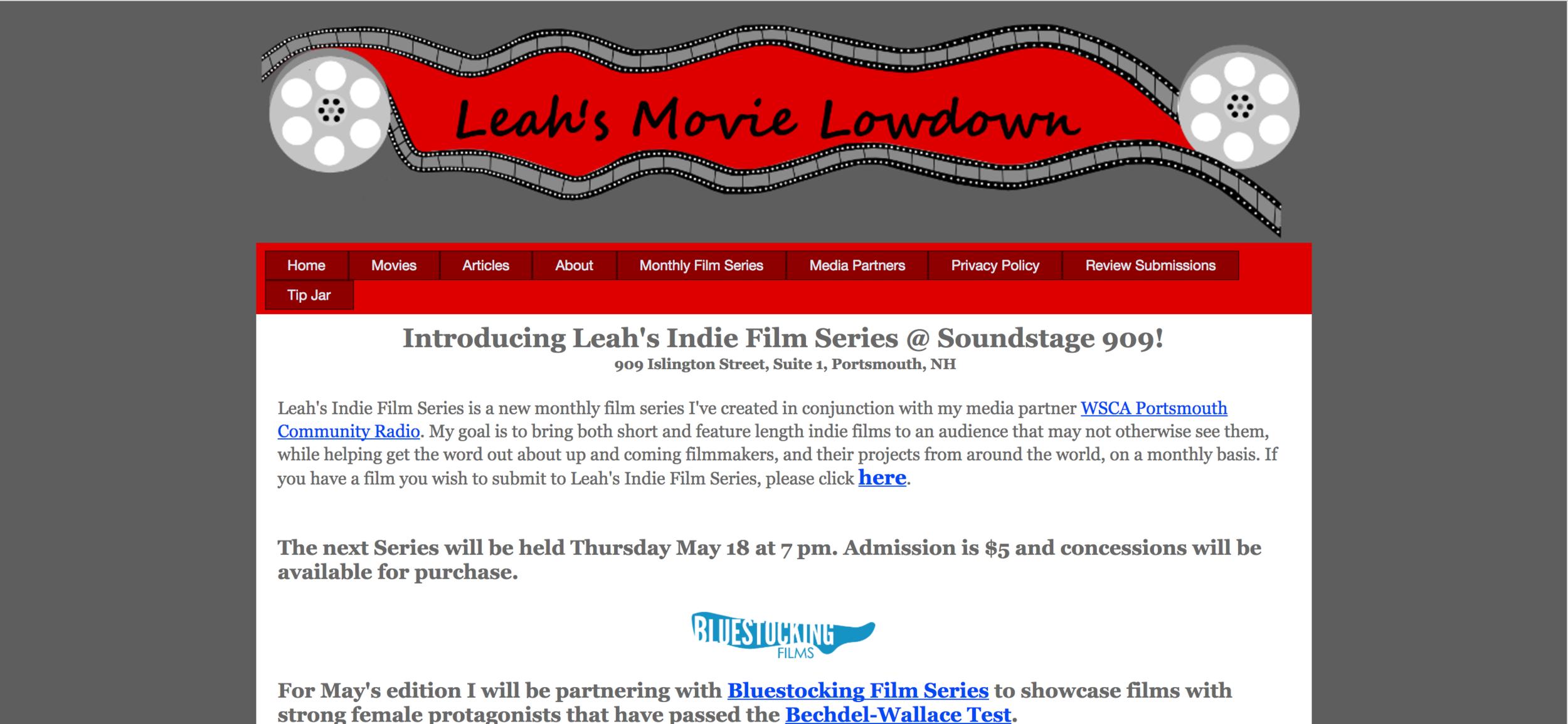 Leah's Movie Lowdown Interview  (2017)
