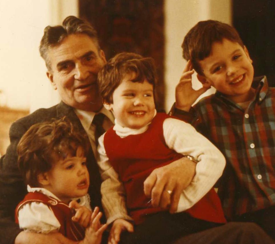 Paige, Grampie, Julia, Stephen, Circa 1970.
