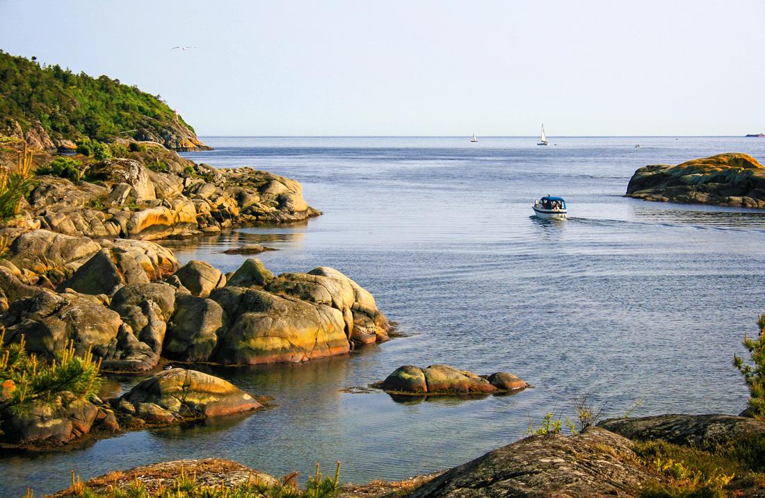 Skagerraks horisont sett fra Lille Arøya