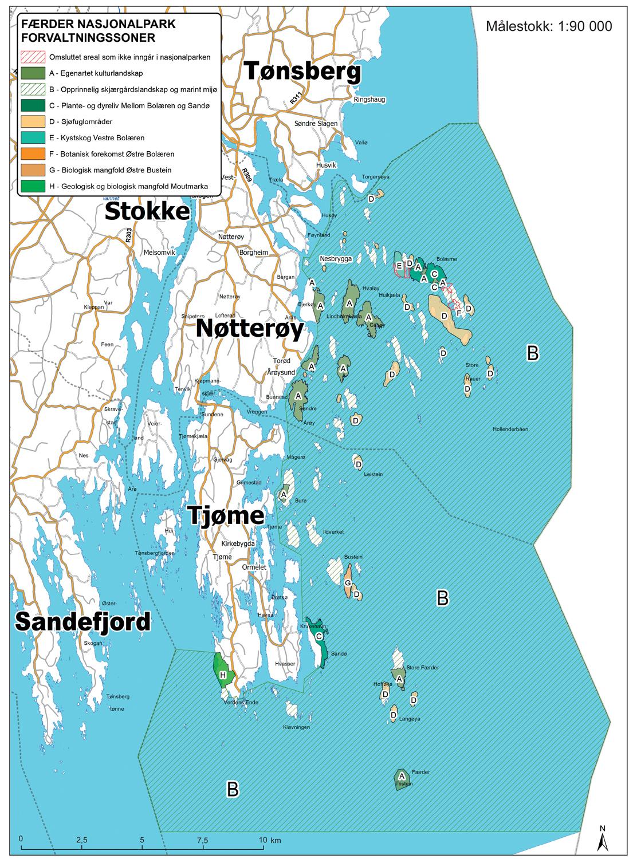 Færder nasjonalpark kart