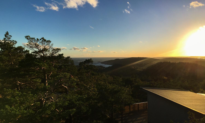 Utsikt fra Kjerringfjellet mot sydlige delen av Eftanglandet.