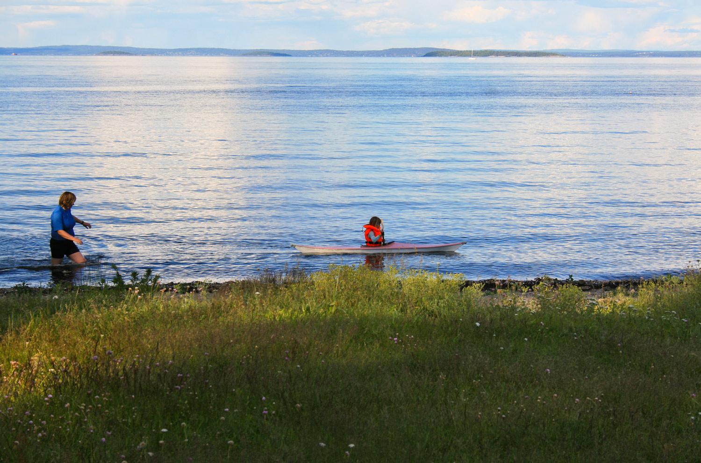 Tidlig krøkes, ved Sandsletta, like nord for Frebergsvik. Den nordlige skjærgården i Vestfold er fin for komfortable padleturer. Stort sett rolig vann og sjelden store bølger.