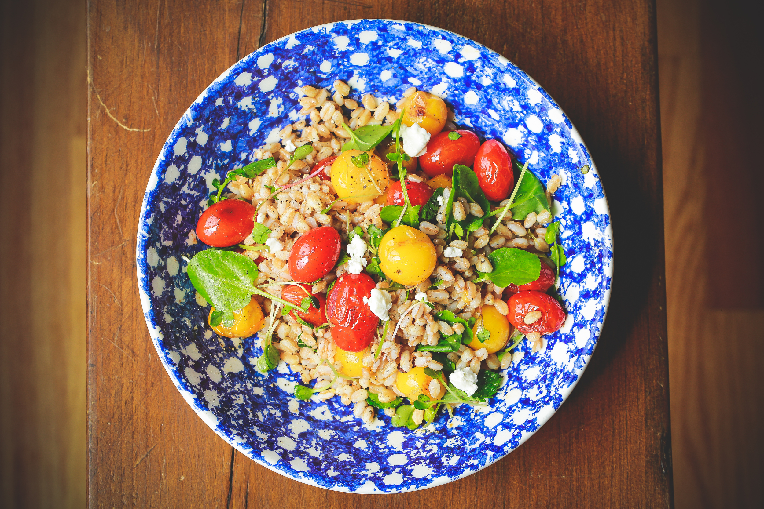 Farro Salad with Skillet-Roasted Tomatoes
