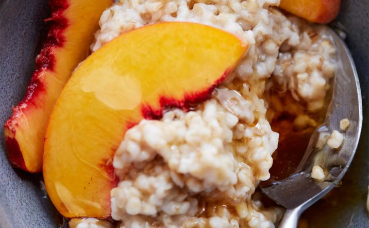 Steel cut oats with peaches recipe.