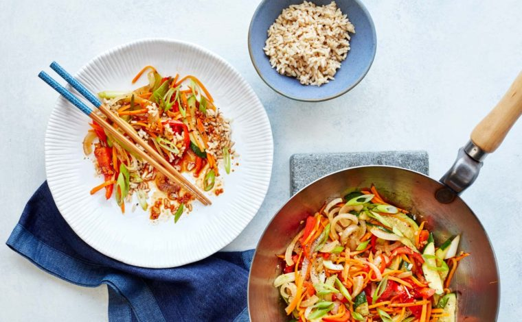Veggie Stir Fry with Super 6 Sauce