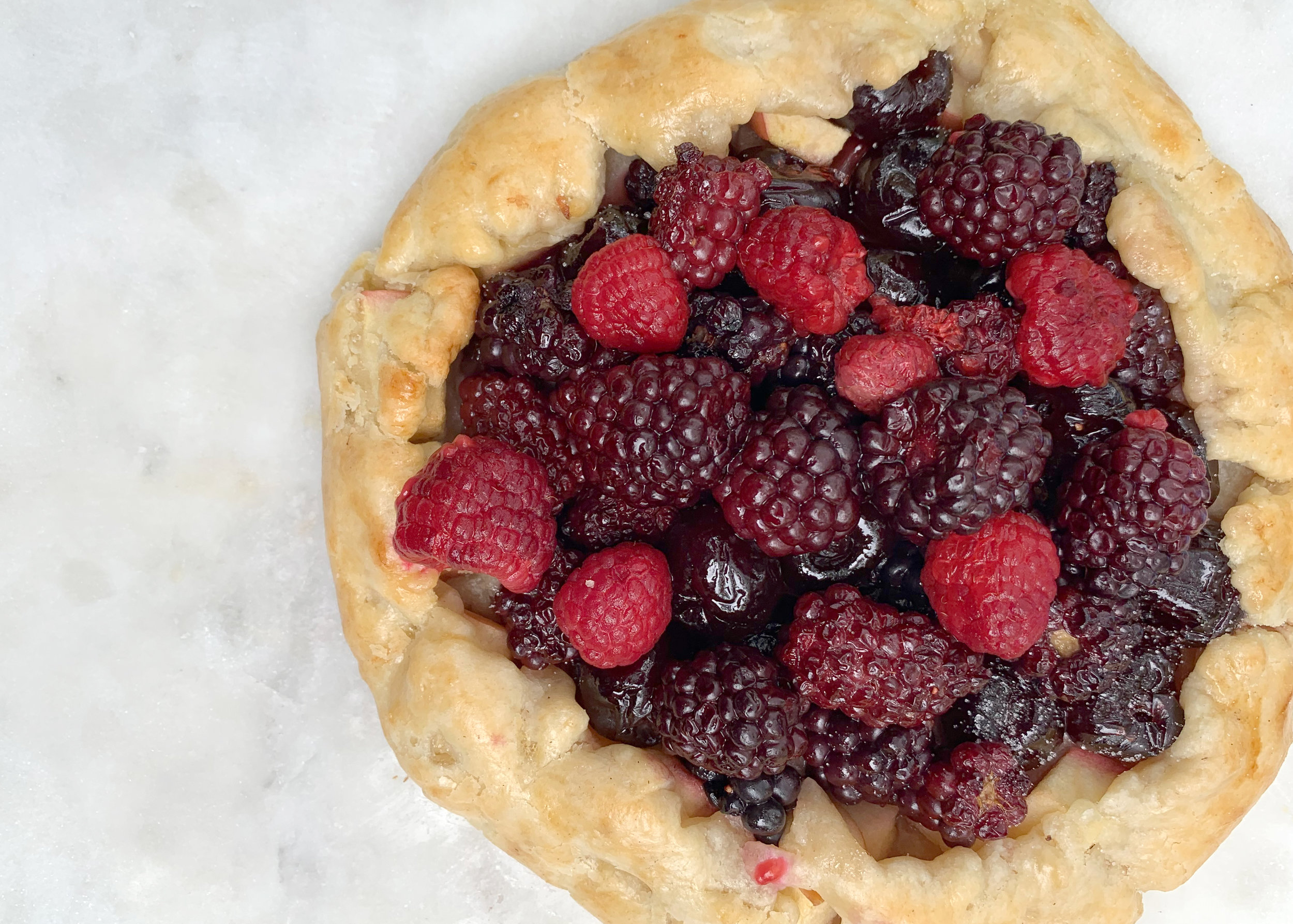 Crazy easy berry galette