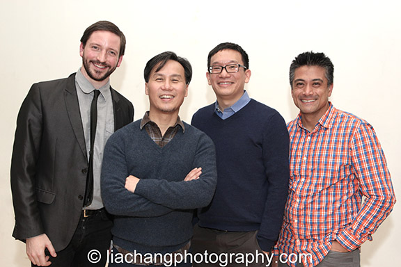 GHOST STORIES Executive Team  (L to R):  Andrew Wheeler  (Music Director),  BD Wong  (Director),  Robert Lee  (Advisor   Concept   Curator),  Ariel Estrada  (Executive Producer). Photo by  Lia Chang .