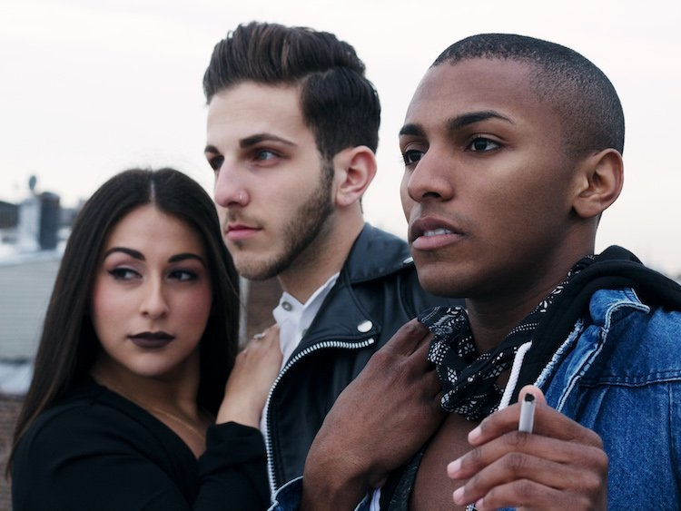 The core cast of Daddy Issues, including creator Marc Jordan Cohen (center). Click the photo to visit the Out.com interview with Cohen and watch the full pilot.