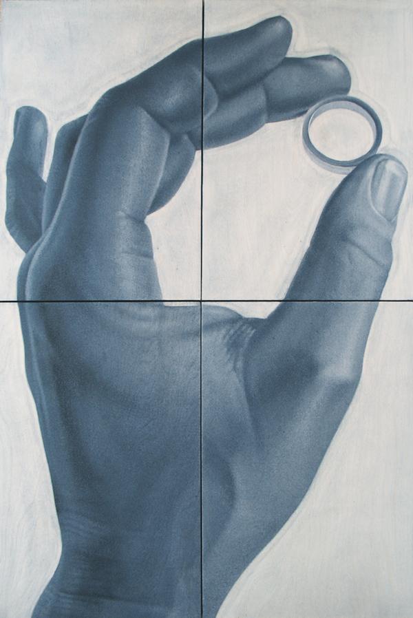 """""""Ring"""" oil on birch, 36""""x24"""""""
