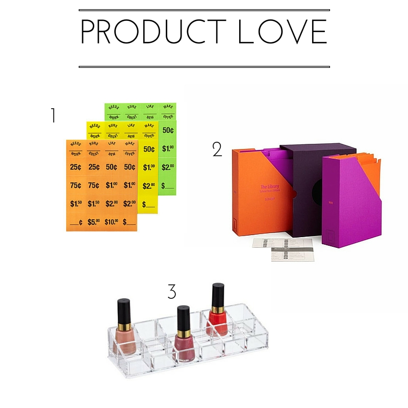 product love, organizing products, rachel and company