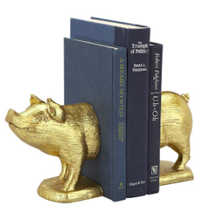 Gift Guide - SET OF 2 GOLD PIG BOOKENDS  .png