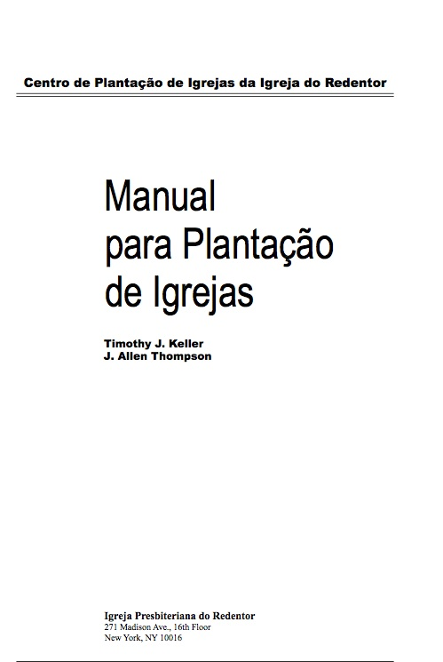 Manual para Plantação de Igrejas (Church Planter Manual)