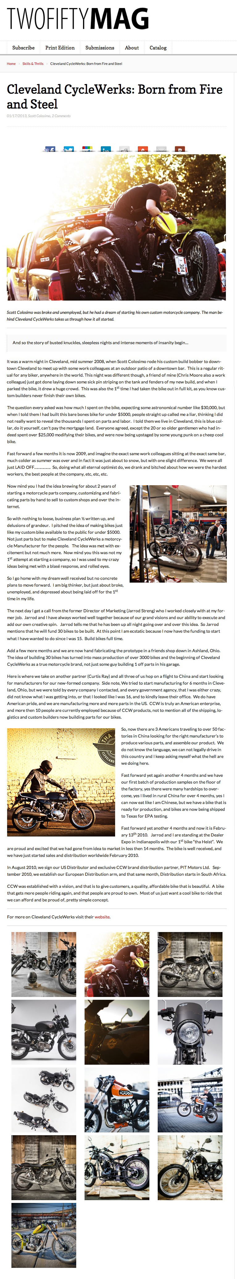 TwoFifty Mag Born From Fire and Steel CCW 2013.JPG